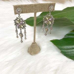 {Anthropologie} Jewel Chandelier Earrings